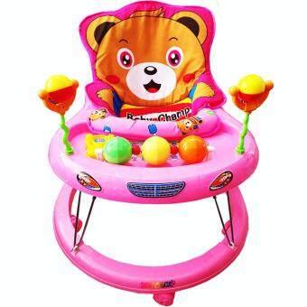 k.baby รถหัดเดิน หน้าหมี Teddy มีเสียงดนตรี (สีชมพู)