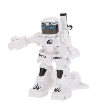Uni รถบังคับวิทยุ รถบังคับดริฟ รถบังคับไฟฟ้า หุ่นยนต์ชกมวยบังคับวิทยุไร้สายRobot Battel (White)