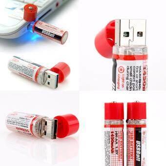 ถ่านชาร์จ AA ถ่านไฟฉาย AA ชนิดชาร์จ USB 1450mAh