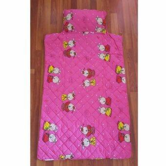 Barbiebelle ที่นอนเด็กเล็ก / เด็กอนุบาลพร้อมหมอน ลายการ์ตูนน่ารัก Bedding Kids (สีชมพู)