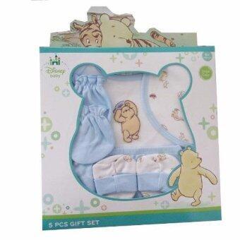 Disney Gift Set ชุดของขวัญ เด็กแรกเกิด 5 ชิ้น (สีฟ้า)