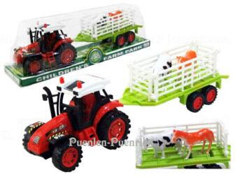 Framer Tractor รถแทกเตอร์บรรทุกสัตว์ 2011-26 (สีแดง)