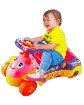 Play Us รถเด็กนั่ง+หัดเดิน (สีเหลือง)