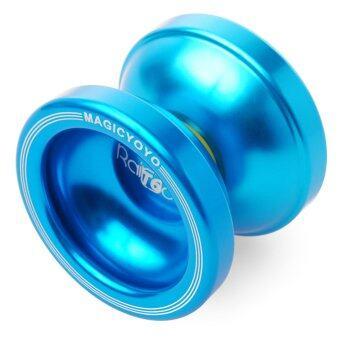 Magic Original Magic T6 Yo-Yo Aluminum Professional Yo-Yo Toys+5xStrings+Glove(สีฟ้า)