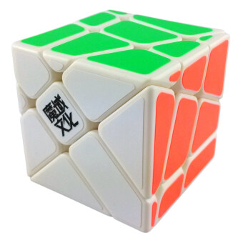360DSC YJ Moyu Crazy YiLeng Fisher Cube 3x3x3 57mm Speed Cube Puzzle White