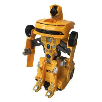 Rctoystory รถบังคับ หุ่นยนต์ แปลงร่าง (เหลือง)