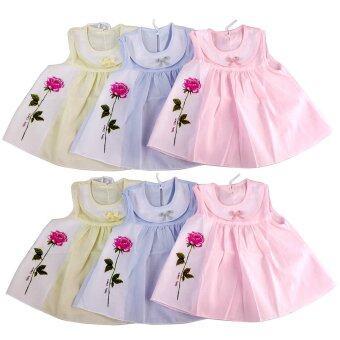 KISSBABY เสื้อเด็กแรกเกิด เสื้อผ้าป่าน แพ็ค 6 ตัว ขนาด 0-3 เดือน