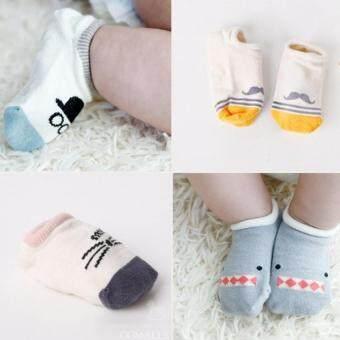 4 คู่เพศเด็กผ้าลื่นถุงเท้าสำหรับ 0 - 24 เดือน (image 1)