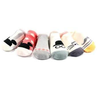 4 คู่เพศเด็กผ้าลื่นถุงเท้าสำหรับ 0 - 24 เดือน (image 0)