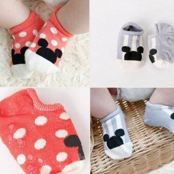 4 คู่เพศเด็กผ้าลื่นถุงเท้าสำหรับ 0 - 24 เดือน (image 2)