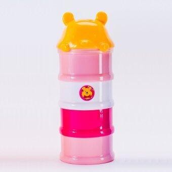 Disney Baby ดิสนี่ย์เบบี้ ที่แบ่งนม 4 ชั้น หมีพูห์ ( สีชมพู )