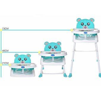 เก้าอี้หัดนั่ง เก้าอี้กินข้าวเด็ก พับได้ ของใช้เด็ก โต๊ะกินข้าวเด็ก โต๊ะกินข้าวเด็กทรงสูง เก้าอี้กินข้าวเด็กทรงสูง โต๊ะเด็ก เก้าอี้เด็ก สีฟ้า รุ่นพับได้