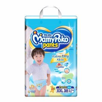 Mamy Poko Pant กางเกงผ้าอ้อม รุ่น Extra Dry Skin - Boy size XXL แพค 38 ชิ้น
