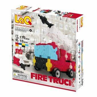 LaQ Hamacron Constructor Fire Truck สำหรับเด็กผู้ชาย (กล่องสีแดง)