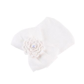 Cotton Unisex Infant Flower Shape Cap(White) (image 1)