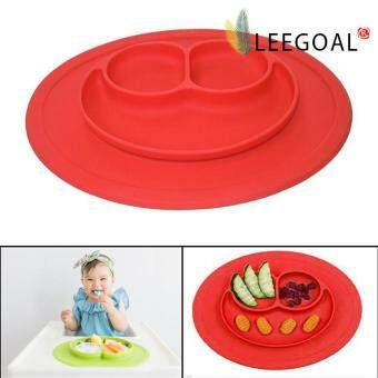leegoal Baby Feeding One-Piece Mini Happy Face Plate (Red) - intl