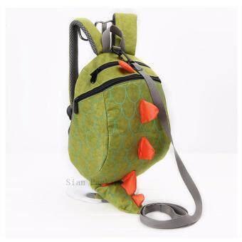 กระเป๋าเป้ไดโนเสาร์พร้อมสายจูง สีเขียว