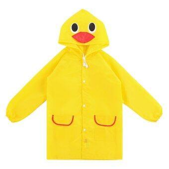 เสื้อกันฝนเด็ก ลายเป็ด funny rain coat (สีเหลือง)