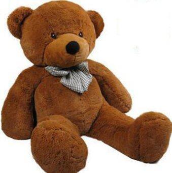 Amango Cotton 80CM Giant Big Plush Stuffed Teddy Bear Huge Soft Toy Brown