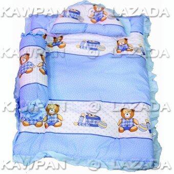 JuJu ชุดที่นอนเด็กอ่อน - สีฟ้า