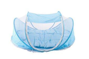 Happy Baby ที่นอนพกพาพร้อมมุ้งครอบ (Blue)