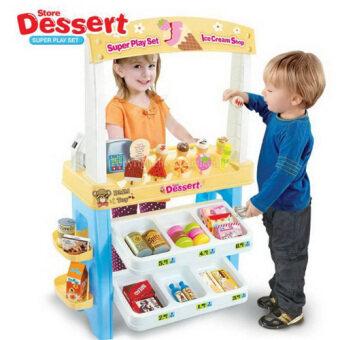 Kids Toys ร้านขายไอศครีมขนาดใหญ่ ice cream shop รุ่นใหม่ มีไฟ มีเสียง พร้อมอุปกรณ์ครบชุด