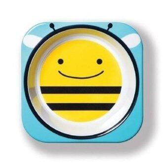 2Kids ชามใส่อาหารเด็ก ลายผึ้ง - สีฟ้า