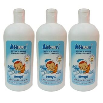 Attoon Bottle & Nipple Liquid Cleanser 1,000 ml. (3 ขวด)