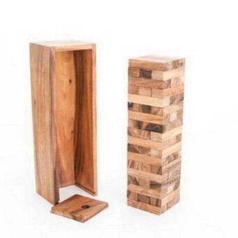 Ama-Wood เกมส์ตึกถล่ม ใหญ่ L Jenga Tumble Tower L