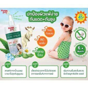 HAPPY BABY Organic สเปรย์กันแดดออร์แกนิคสูตรเย็น สกัดจากน้ำนมแพะ 350ml.