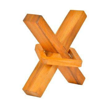 Ama-Wood ของเล่นไม้ไม้เหวี่ยง Square in X - ใหญ่