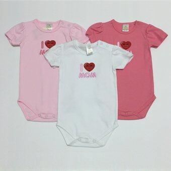LITTLE BABY M เสื้อผ้าเด็กเล็ก บอดี้สูท set Love Mom แพ็ค 3ตัว (image 0)