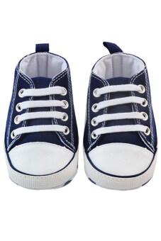 Aukey Prewalker Canvas Sneakers Antiskid Shoes 3—18M (Blue)