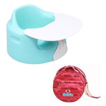 Anbebe เก้าอี้หัดนั่งพร้อมถาดอาหารและกระเป๋าพกพา รุ่น 3 in 1 (สีฟ้า)