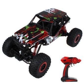 รถบังคับวิทยุ รถแข่งของเล่น รถไต่หิน 2.4ghz 4WD Rock Crawler 1:10 - (สีแดง)