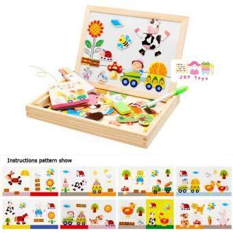 Todds Kids Toys ของเล่นไม้เสริมพัฒนาการ ชุดกระดานเเม่เหล็กเเละกระดานดำชุด Happy Farm