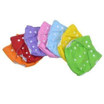 Qianquhui กางเกงผ้าอ้อมนาโน ซักได้ ชนิดกันน้ำ 7 ชิ้น (สีส้ม+แดง+ม่วง+ชมพู+ฟ้า+เหลือง+เขียว) kid