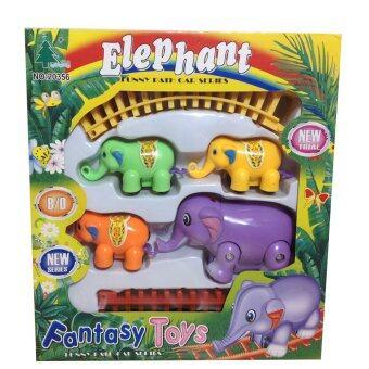 Films Toy Elephant Train ชุดรถไฟช้างสำหรับเด็ก กล่องเล็ก พร้อมรางรถไฟ
