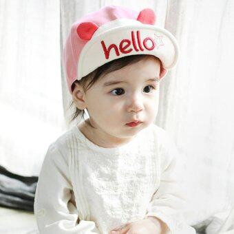 เด็กสาวสวมหมวกเบสบอลซันน่ารัก (สีชมพู) (image 1)