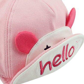 เด็กสาวสวมหมวกเบสบอลซันน่ารัก (สีชมพู) (image 4)