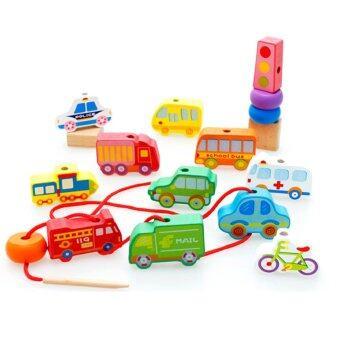 Trainandtoys ของเล่นร้อยเชือก ชุด Urban Transport