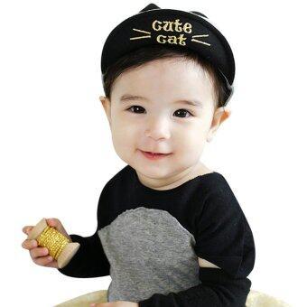Baby Boy Beret Baby Girls Sun Hat(Gray) - Intl