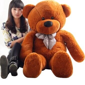 Cuddly Stuffed Animals Plush Teddy Bear Toy for Girl Children Dark Brown 80CM