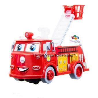 ProudNada Toys ของเล่นเด็กรถกระเช้าดับเพลิงชนถอย BAONIU FIRE CAR NO.938A