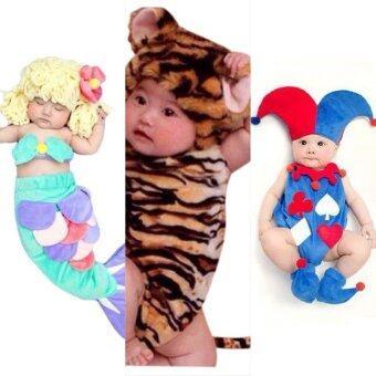 BabyGaga ชุดแฟนซีเด็กทารกเงือกน้อย-เสือน้อย-โจ๊กเกอร์ Little Mermaid & Baby Tiger & Joker Fancy Costume