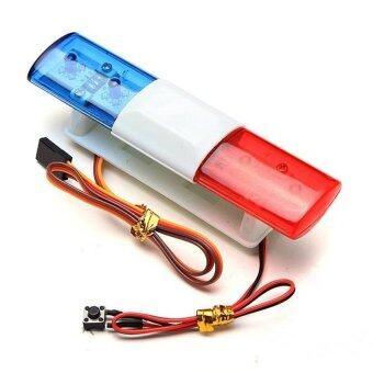 Uni รถบังคับวิทยุ รถบังคับดริฟ รถบังคับไฟฟ้า CS LED Lights 360 Degree Rotation RC Car Simulation Police Lights HY00398 (Blue&Red) - Intl