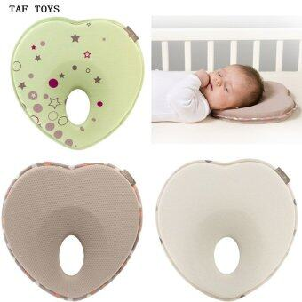 Newborn Baby Pillow Infant Headrest Prevent Flat Round Memory Foam Green