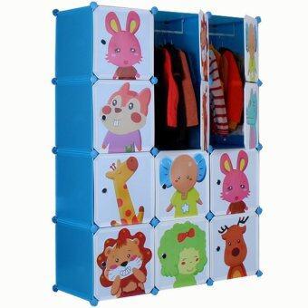 2Smile DIY ตู้เสื้อผ้าเด็ก 12 ช่อง (สีฟ้า) image