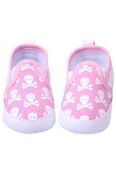 Aukey Toddler Baby Crib Anti-slip Sneaker Overshoes (Pink)