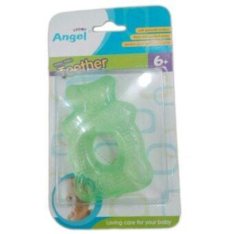 Angel Stony Water Filled Teether 6+ months แองเจิล สโตนี่ ยางกัดเล่น (สีเขียว) 12 ชิ้น